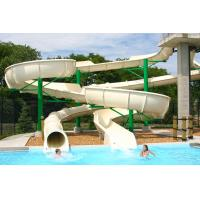 Buy cheap Open Fiberglass Water Slides White Two Line Tube Available White from wholesalers