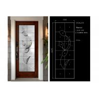 Buy cheap Building Art Glass Panels Patina Brass / Black Chrome / Red Copper Optional from wholesalers