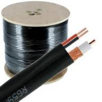 Buy cheap 95% CCA Braid CCTV RG59 Coaxial Cable 20 AWG BC Conductor Foamed PE Siamese Cable from wholesalers