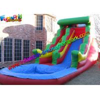 Buy cheap Big Rainbow Wave Backyard Inflatable Water Slides With Splash Pool from wholesalers