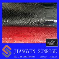Buy cheap Flame Retardant Crocodile Synthetic Pvc Leather For Lady Handbags from wholesalers