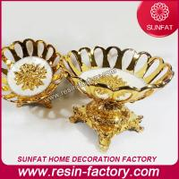 Buy cheap Polyresin Resin Souvenir goldplated fruit bowl from wholesalers