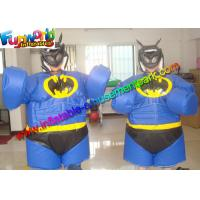 Buy cheap Batman Dress Up Games Clothes / Blow Up Sumo Suits With Air Mat from wholesalers