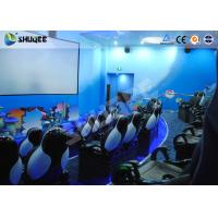 Buy cheap Amusement Park Animatiom 4D Movie Theater With Black Leather Pneumatic Seats product