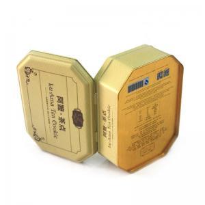 Buy cheap Antique octagonal tea cookie metal tins wholesale product