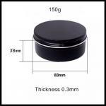 Buy cheap Black Metal Aluminium Cosmetic Tins Herbs Spices Storage Jar 150g Capacity from wholesalers