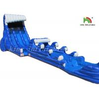 Buy cheap Blue Blow Up Sea Waves Water Slide Giant Double Lanes For Backyard from wholesalers