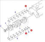 Buy cheap 6150-21-8050 thrust metal assy komatsu bulldozer engine parts from wholesalers