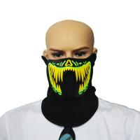 Buy cheap 2018 hot sale light up led el mask for festival Parties high brightness masquerade costume Mask from wholesalers
