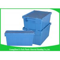Buy cheap 60L Plastic Attached Lid Containers Heavy Duty Stackable Moving 600 * 400 * 365mm from wholesalers