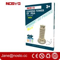 Buy cheap Architectural models of famous buildings , 3D puzzle souvenir leaning tower of from wholesalers