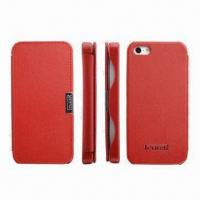 Buy cheap Leather Phone Cases for iPhone 5G, Available in Various Colors product