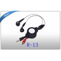 Buy cheap 3.5mm Stereo Noise Canceling retractable earphones In ear for OEM / ODM product