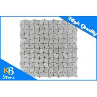 Buy cheap Mixed Square Polished Wooden Grey Mosaic Wall Tiles , Marble Natural Stone Flooring Tile from wholesalers