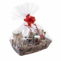Buy cheap Recyclable Clear Cellophane Gift Basket Bags Moisture Proof For Fruit Shop from wholesalers