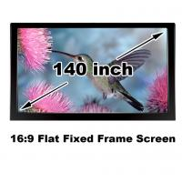 Buy cheap Clear Picture HD Projector Screen 140 Inch Flat Fixed Frame 3D Projection Screens 16:9 from wholesalers