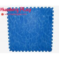 China Blue Outdoor Rubber Flooring , EVA Playground Safety Mats Soft Touch on sale