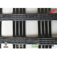 China Polyester  Geogrid Reinforcing Fabric Retaining Wall Material Bitumen Coating on sale