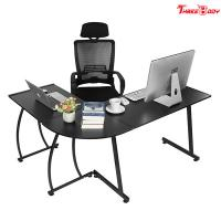 Buy cheap Custom Modern Executive Office Furniture , L Shape Corner Contemporary Office Table from wholesalers