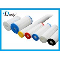 Buy cheap Washable Pleated Water Filter Cartridge Media Element For Water Cleaning from wholesalers