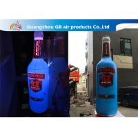 Quality Giant 5mH PVC Airtight Promotion Inflatable Olmeca Drink Bottle With Led Light for sale
