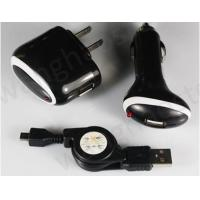 Buy cheap Car+AC Wall+ Mirco USB Data Cable Charger for Blackberry 8520 Tour 9630 from wholesalers