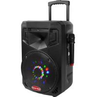 Bluetooth DJ Portable Trolley Speakers / Usb Portable Speaker With Led Flash Light