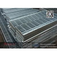 Buy cheap 250x760mm Steel Grating Stair Treads with nosing plate from wholesalers