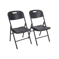 Buy cheap Wooden Grain Black Plastic Folding Chairs / HDPE Outdoor Plastic Folding Seat from wholesalers