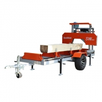 Buy cheap SW26G Horizontal Portable Bandsaw Saw mills for sale ,Gasoline Engine Portable Band Sawmill from wholesalers