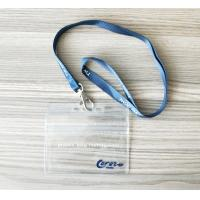 Buy cheap Horizontal Name Badge Holders Kit Clear Plastic Name Tags With Woven Lanyards from wholesalers