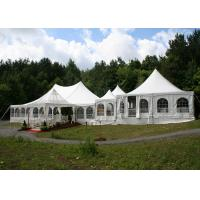 Buy cheap Festivals Exhibitions Steel Pagoda Party Tent 8 * 8M UV Protection With PVC Wall from wholesalers
