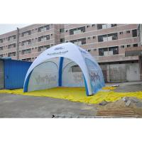 Buy cheap Durable Inflatable Advertising Tent PVC Fabric Flame Retardant Anti UV Custom Logo Printed from wholesalers