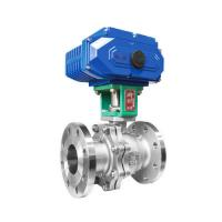 Buy cheap Female Thread Industrial Control Valves Electric Actuated Low Fluid Resistance from wholesalers