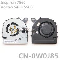 Buy cheap Original Laptop FAN FOR DELL Inspiron 7460 7560 CPU Cooling Fan Vostro 5468 5568 CPU Cooling Fan CN-02X1VP CN-0W0J85 from wholesalers