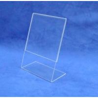 Buy cheap Price Tag Holder Clear Acrylic POP Display Rack for Cafeteria Customized product