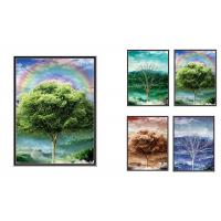 Buy cheap 30x40cm Beautiful Four Season Trees Lenticular Flip With 0.6mm PET For Home Decoration from wholesalers