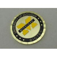 Buy cheap University of Michigan 2.0 Inch Personalized Coins With Brass Material And PVC Pouch Bag from wholesalers