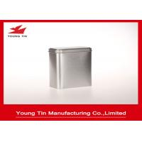 Buy cheap Blank Silver Color Metal Tea Storaging Container Tin Boxes With Cover from wholesalers