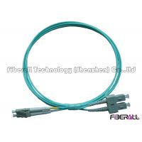 Buy cheap High Speed Multimode OM3 Fiber Patch Cables , Aqua Fiber Patch Cord 1300nm from wholesalers