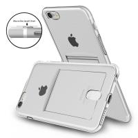 Buy cheap Anti - Scratch Apple Cell Phone Cases Clear TPU Flexible Bumper With Card Slot from wholesalers