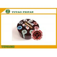 Family Game 200 PCS Custom Poker Chip Set With Round Type Luxury Wooden Tray
