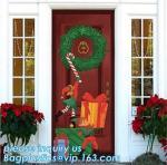 Buy cheap Promotional custom printing plastic door cover PE christmas door/window/wall covers door poster,indoor & outdoor door po from wholesalers