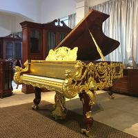 Buy cheap Luxury home furniture, Gold Grand Piano Dragon Golden Grand Piano for sale from wholesalers