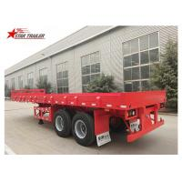 Buy cheap 2 Axles 30ft 30Ton Flatbed Semi Trailer For Transporting Construction Machinery product