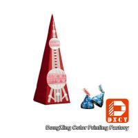 Buy cheap Paperboard Candy Custom Printed Gift Packaging Boxes Unique Tower Shaped from Wholesalers