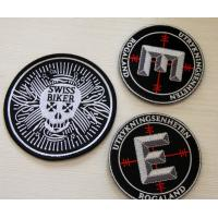 Buy cheap Round Velcro Custom Embroidered Patches , embroidered name patches from wholesalers