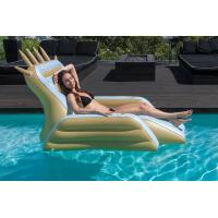 Buy cheap Summer Pool Air Sofa Inflatable King Throne Chair With Drink Holder / Custom Logo from wholesalers