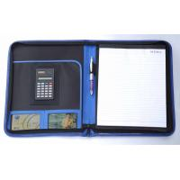 business conference folder with calculator