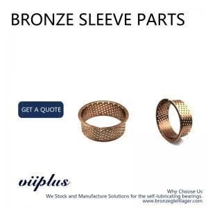 China Tin Phosphor Bronze Sleeve Bushings CuSn8 & CuSn6.5 Material 090 092 Type on sale